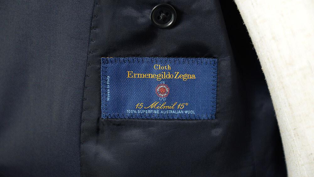 ゼニアのダブルブレストスーツ