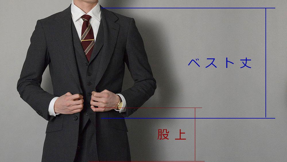 3Pスーツのベスト付きは、股上が短いと『ヤバイ』