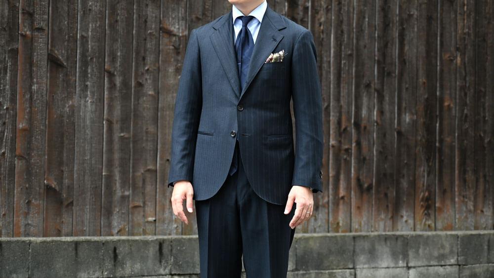 フィレンツェモデルのオーダースーツを着てみた件